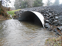 Upstream end of culvert - Chenoic Creek